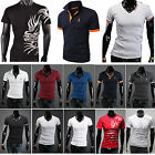 Mens Stylish Fitted Short Sleeves Polo Shirt Casual Formal T-ShirtS Tee Tops NEW