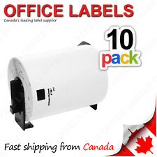 10 Rolls of DK-1241 BROTHER® Compatible Labels With 1 Reusable Cartridge