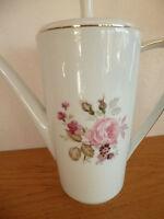 Hutschenreuther Rose Pattern Coffee Pot & Lid  Germany  Pattern 31384