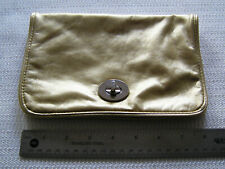 Bare Escentuals Gold Faux Leather Makeup Bag Case Clutch Free US Shipping