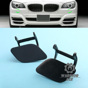 Pair Headlight Washer Nozzle Cover Flap For BMW F01 F02 740i 750i 760i