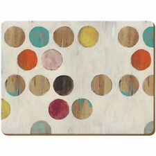 Creative Tops Retro Spot Premium Cork-backed Large Placemats Wood 4-piece