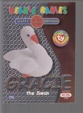 1999 Ty Beanie Babie Series 2 Birthday/Rookie Card Gracie Silver #258