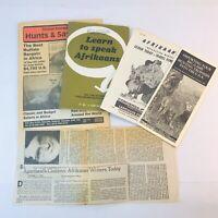*Lot of Vintage Hunting Safari Afrikaans Ephemera Incl. Learn To Speak Afrikaans