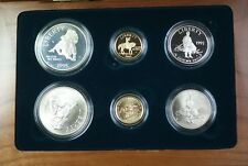 1995 Civil War Battlefield Gold Silver & Clad 6 Coin Proof & UNC Set In OGP JAH
