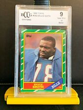 1986 Topps Bruce Smith. Bccg 9. NFL All Time Sack Leader! 4 Charity