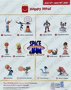 2021 McDonalds SPACE JAM Legacy Happy Meal Toys complete set 12 Ships Immed
