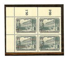 Austria 1953 State Theater Gorgeous Vf/Xf Mnh Corner Block Hi Catalog Value