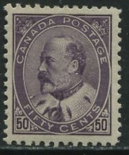 Canada 1902 KEVII 50  cents VF mint o.g. hinged