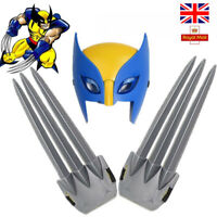 Wolverine claws X-men Hero Cosplay luminous LED Mask Logan Claws Kids cloak Toys