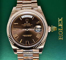 Rolex Day-Date 40 18k Everose Gold  Mens Watch Box/Papers NEW 228235
