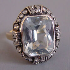 2.15cts Rose Cut Diamond Gemstone Antique Victorian Look Silver Cocktail Ring