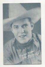 Ken Maynard 1940's 1950's Salutations Cowboy Exhibit Arcade Card