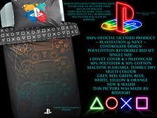 🎮 Prochain Officiel Playstation Controller Logo Gamer Gaming Jeux Ensemble De Lit Gris Rouge
