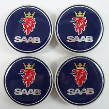 Dark Blue Wheel Centre Hub Cap (Set of 4) 63mm 9-3 9-5 900 12775052 for SAAB HOT