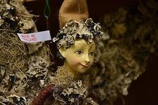 Butterfly Forest Brown Fabric Fairy Elf Boy Doll 13' Home Decoration Wings Hat