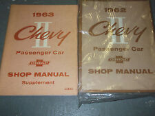1962 Chevrolet Chevy II TWO 2 Service Repair Workshop Shop Manual Set FACTORY