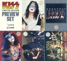 KISS 1997 CORNERSTONE PREVIEW SET 1 - 9 & HEADER CARD NUMBERED OF 15,000 PROMO