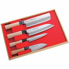 Japanese Kitchen Knife Knives 4pics Set Sushi Nakiri Santoku Deba Made in JAPAN