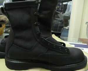 US ARMY BLACK CLOTH SIDE GORE-TEX BOOTS ICB INFANTRY COMBAT NEW  3.5 X-WIDE
