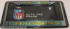 NFL San Diego Chargers Laser Cut Chrome License Plate Frame