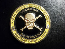 U.S. AIR FORCE 375th Mission Support Group COMBAT DINING OUT Challenge Coin RARE