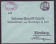 Griechenland Greece Brief Patras Nürnberg 1910 VST EF
