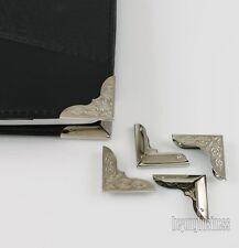 50 Pieces Metal Book Corner Protectors 30mm X 30mm Scrapbooking Folder Albums