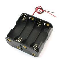 2x(Contenitore per 8 Stilo AA Porta Batterie in Plastica con Cavi HK