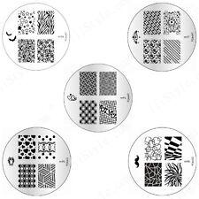 Konad Stamping Nail Art Circle Image Plate m94 m95 m96 m97 m98 DIY
