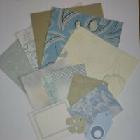 6x6 Paper Kit Bundle Powder Blues Card Making Junk Journalling