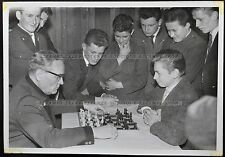 Vintage Photo Chess School, game of chess (1300)