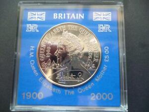 2000 £5 COIN CASED  QUEEN MOTHERS 100TH BIRTHDAY BRILLIANT UNCIRCULATED