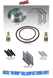 """FASS Fuel System Diesel """"No Drop"""" Fuel Sump Kit (Blow Only) for Ford GM Cummins"""