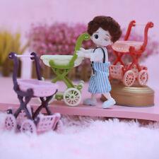 Mini Shopping Cart Salesman Sample for Kid Pretend Play Toy Dollhouse Decorat DM