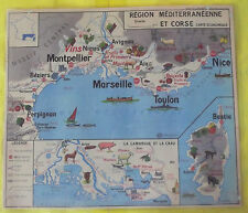 Affiche Scolaire Pédagogique Région Méditerranéenne Corse Vins Fruits Moutons