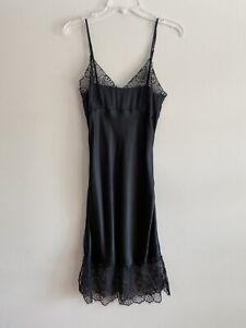 Intimissimi Lingerie Slip LACE BLACK Silk SEXY SZ M ADJUSTABLE STRAPS