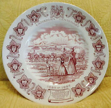 Canadian Centenary 1867-1967 Plate Dish Barretts Staffordshire England Red White