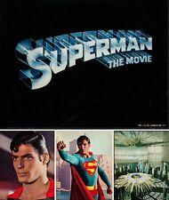SUPERMAN THE MOVIE set of 4 Giant Lobby Cards Posters 16x20 CHRISTOPHER REEVE