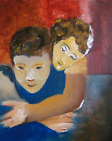 "Affection: oil painting on canvas original (16"" x 20"")"