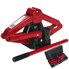 Sealey 700kg Hydraulic Scissor Jack in Case Emergency Car Lift Wind Up Garage