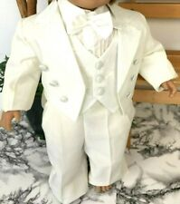 Children Baby Tuxedo Suit Christening Dress - Wedding Festive - Cream - New