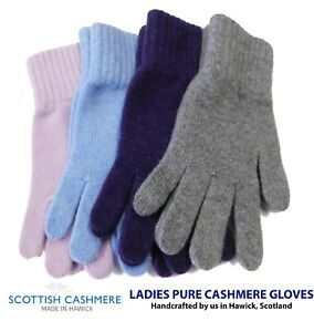 Pure Cashmere Ladies Gloves - Made in Hawick, Scotland