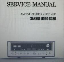 Sansui 8080 9090 st récepteur service manual inc schm sanhq imprimé bound anglais