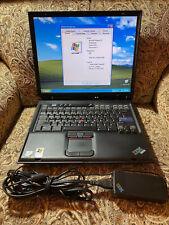 "Vintage IBM Thinkpad R40 2.4GHz 512MB 20GB Win XP Pro SP3 14.1"" LCD CD/DVD RW"