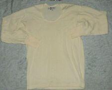 Mens VTG 70s SAARC 100% Wool Baselayer Under Shirt Long Sleeve sz S/M