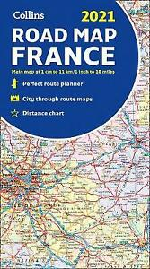 Map of France 2021, Collins Maps,  Paperback