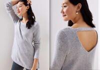 NWT Ann Taylor LOFT Bar Back Tunic Sweater  2XL  New  $65 Grey