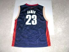 Cleveland Cavaliers blue LEBRON JAMES Reebok basketball jersey youth Large