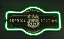 Route 66 Service Station LED Licht /Neon  - ca. 44 x 23 cm - neu + ovp